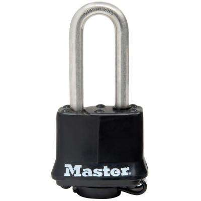 1-9/16 in. Covered Laminated Stainless Steel Keyed Padlock with 2 in. Shackle