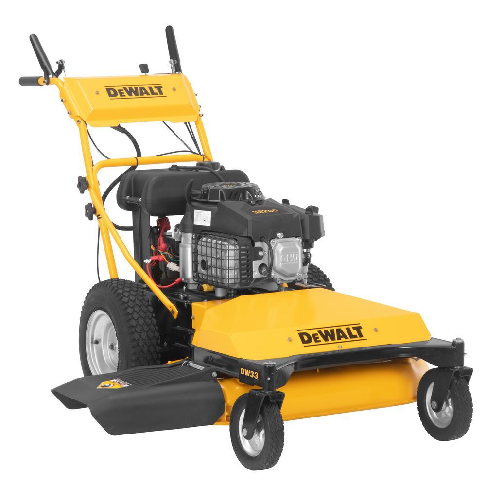 DEWALT DW33 33-inch 382 cc OHV Electric Start Engine Wide-Area Gas Walk Behind Lawn Mower