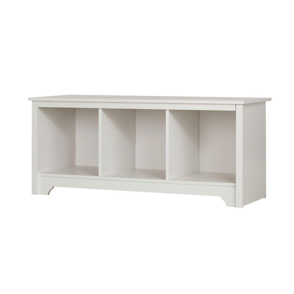 Vito Pure White Storage  Bench