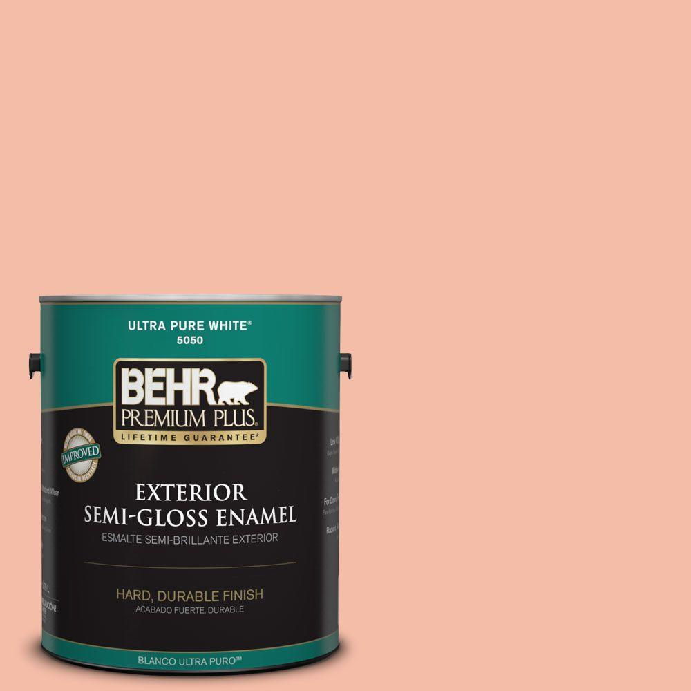 1-gal. #HDC-SP14-4 Heirloom Apricot Semi-Gloss Enamel Exterior Paint