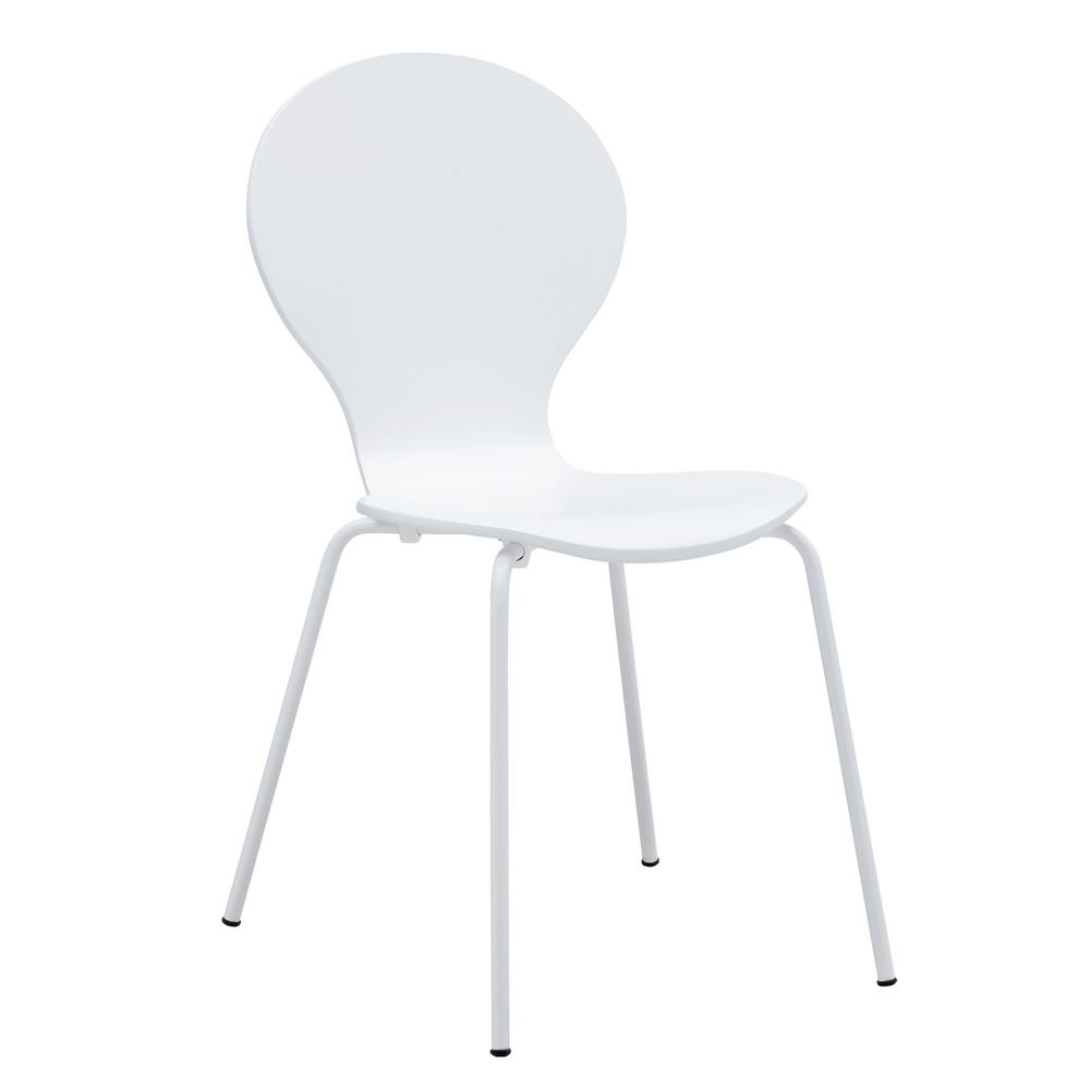 White Petal Dining Chair