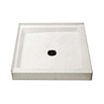 Cascade 36 in. x 36 in. Double Threshold Shower Floor in White