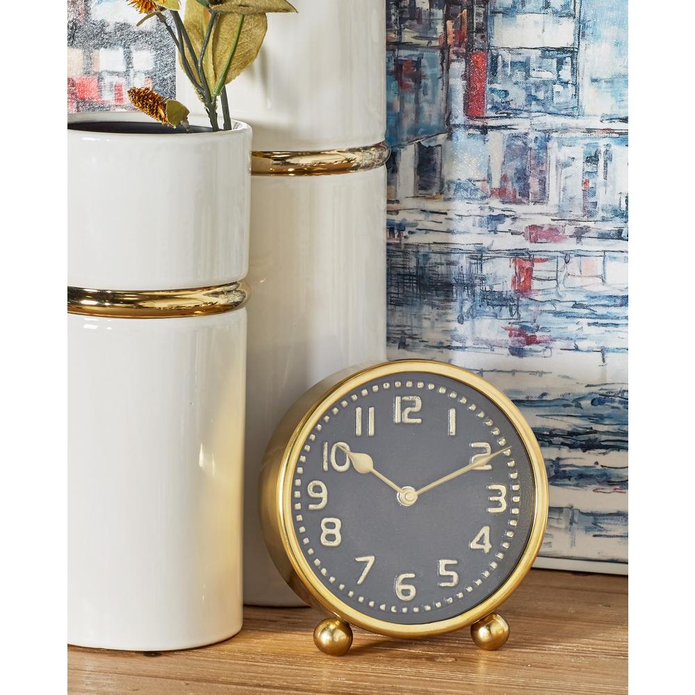Multi Colored Modern Table Clocks (Set Of 2)