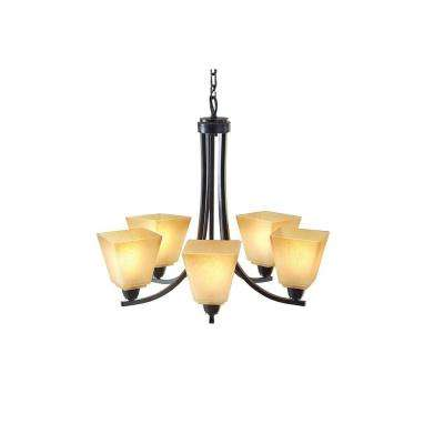 Parkfield 5-Light Flemish Bronze Single Tier Chandelier