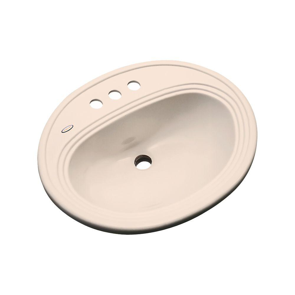 Thermocast Summit Drop-In Bathroom Sink in Peach Bisque