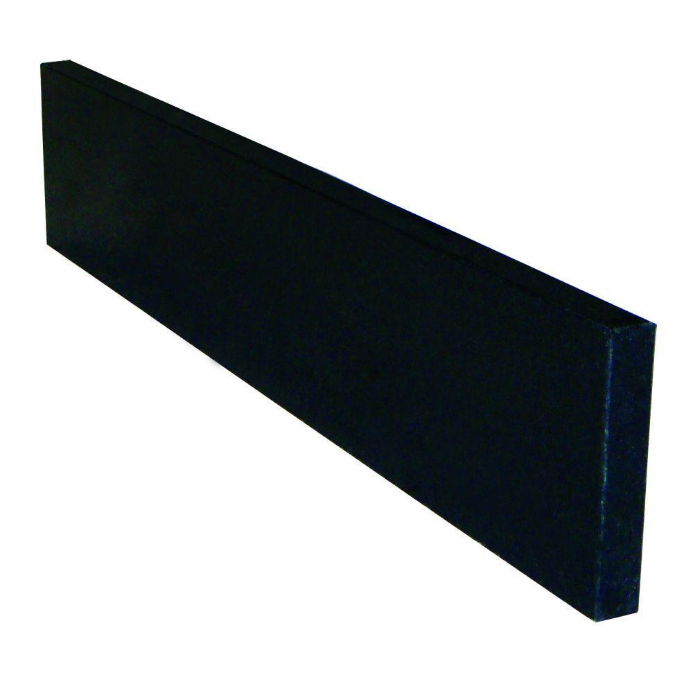 21-1/4 in. Granite Sidesplash in Black Pearl