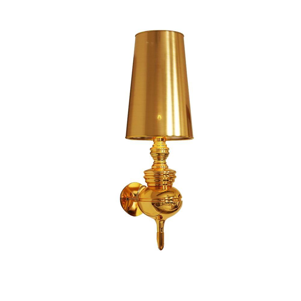 Control Brand Tiffany 1-Light Gold Sconce