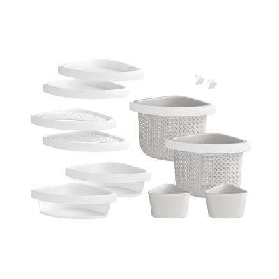 Store+ Family 12-Piece Shelf Kit in White