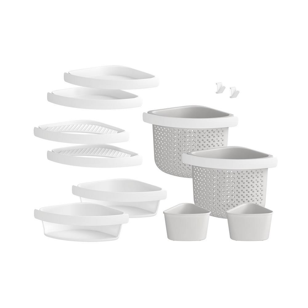 Store+ Family 12-Piece Shelf Kit in White