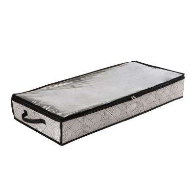 28 in. x 16 in. x 6 in. Geo Natural Under the Bed Storage Bag