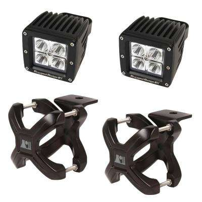 1.25 in. to 2 in. X-Clamp Light Mount and 3 in. Square LED Light Kit (2-Pack)