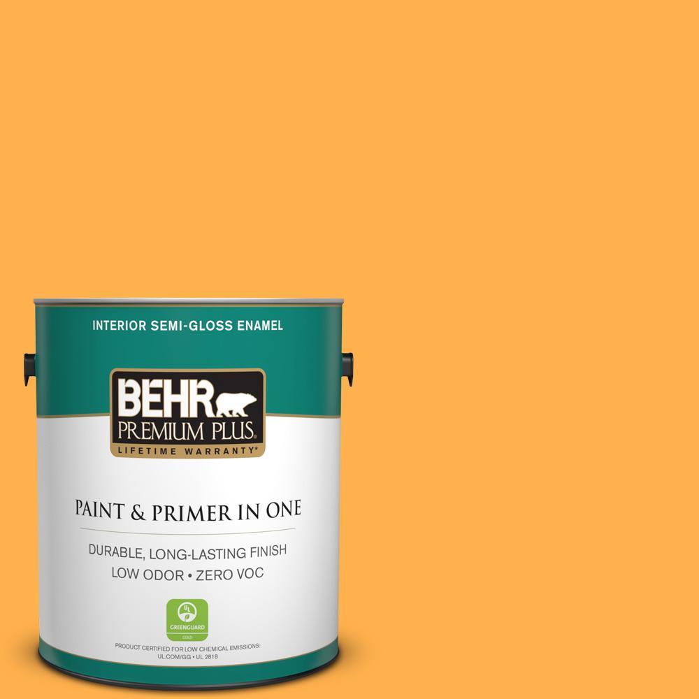 1-gal. #P250-6 Splendor Gold Semi-Gloss Enamel Interior Paint