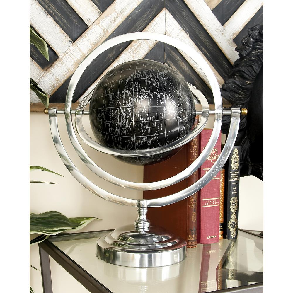 Modern Globe and Armillary Sphere with Rotating Axes, Met...