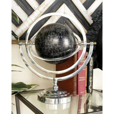 Modern Globe and Armillary Sphere with Rotating Axes