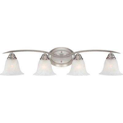 Trinidad 4-Light Brushed Nickel Bath Vanity Light