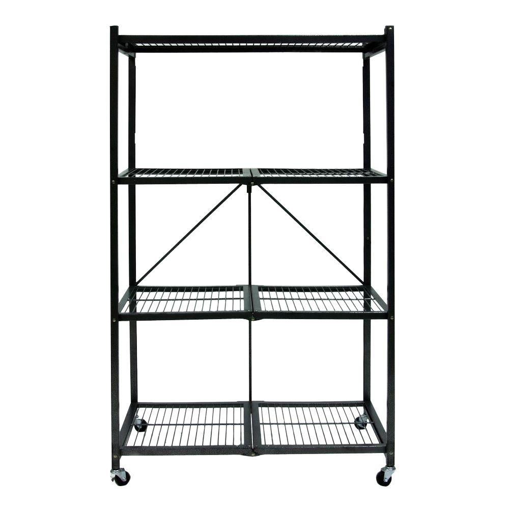 Ordinaire Origami 36.2 In. X 14.1 In. X 4.1 In. General Purpose Folding Metal Shelf R3 01W    The Home Depot