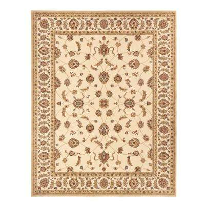 Claire Cream 3 ft. 11 in. x 6 ft. Area Rug
