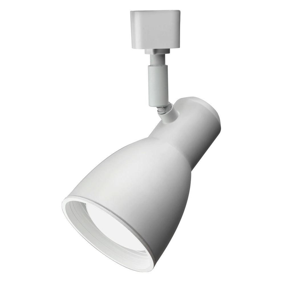 White Step Baffle Integrated Track Head LED Lamp