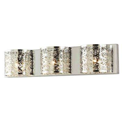 Carterton 3-Light Chrome Vanity Light