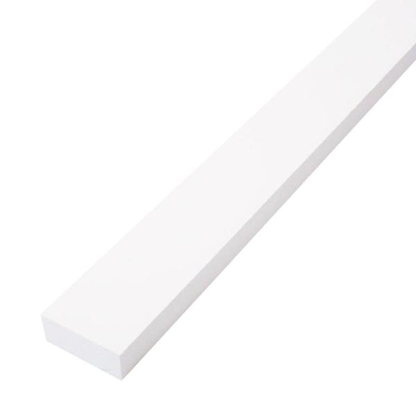 1 in. x 2 in. x 8 ft. Primed Finger-Joint Pine Trim Board (Actual Size: 0.719 in. x 1.5 in. x 96 in.) (15-Piece per Box)