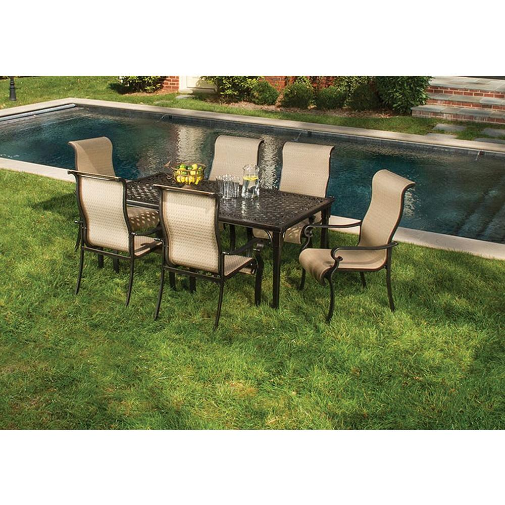 Hanover Brigantine 7 Piece Patio Outdoor Dining Set