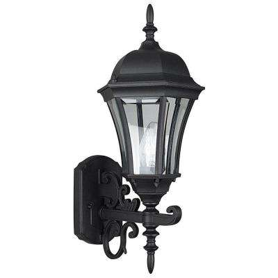 Kernan 1-Light Black Outdoor Wall Lantern