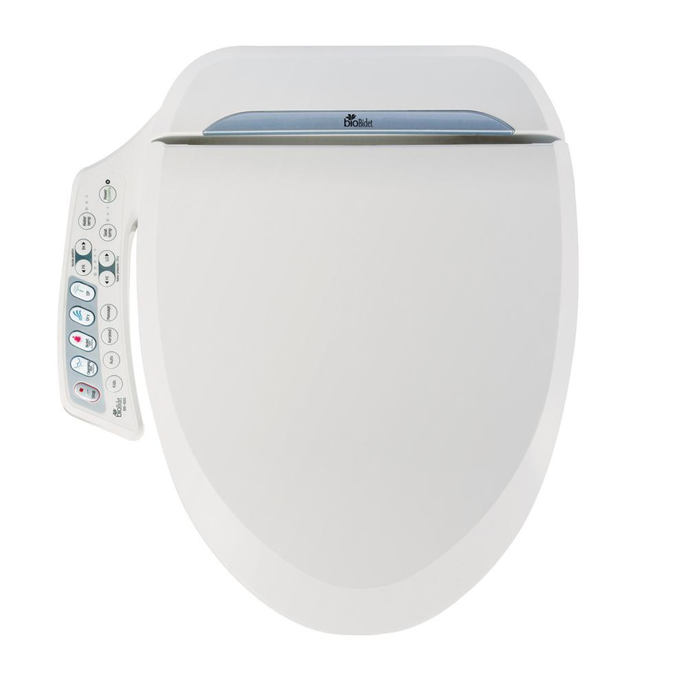 Biobidet Ultimate Series Electric Bidet Seat For Elongated Toilets In White Bb 600 The Home Depot