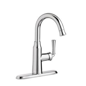 Portsmouth Single-Handle Pull-Down Bar Faucet 1.5 gpm in Polished Chrome