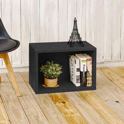 Eco Stackable zBoard 11.2 in. x 22.8 in. x 15.5 in. Tool-Free Assembly Rectangle Cubby Shelf Unit in Back Wood Grain