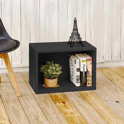 16 in. H x 23 in. W x 11 in. D Black Recycled Materials 1-Cube Storage Organizer