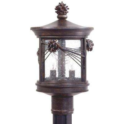 Abbey Lane 2-Light Iron Oxide Outdoor Post Mount