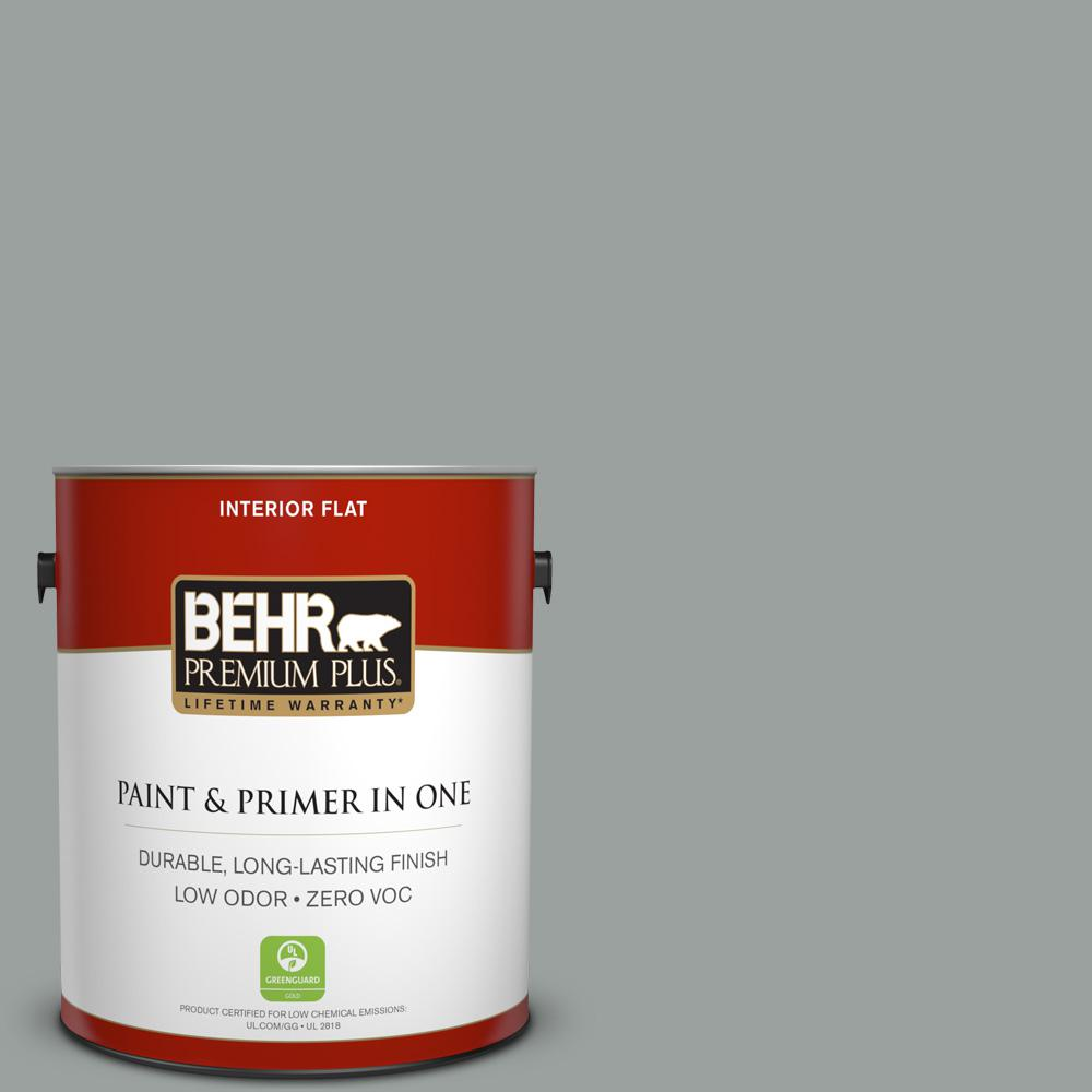 1 gal. #PPU11-16 Brampton Gray Flat Zero VOC Interior Paint and