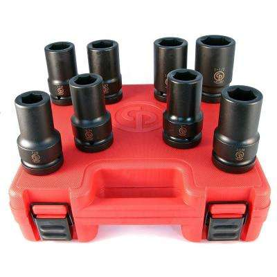 1 in. Drive SAE Deep Impact Socket Set (8-Piece)