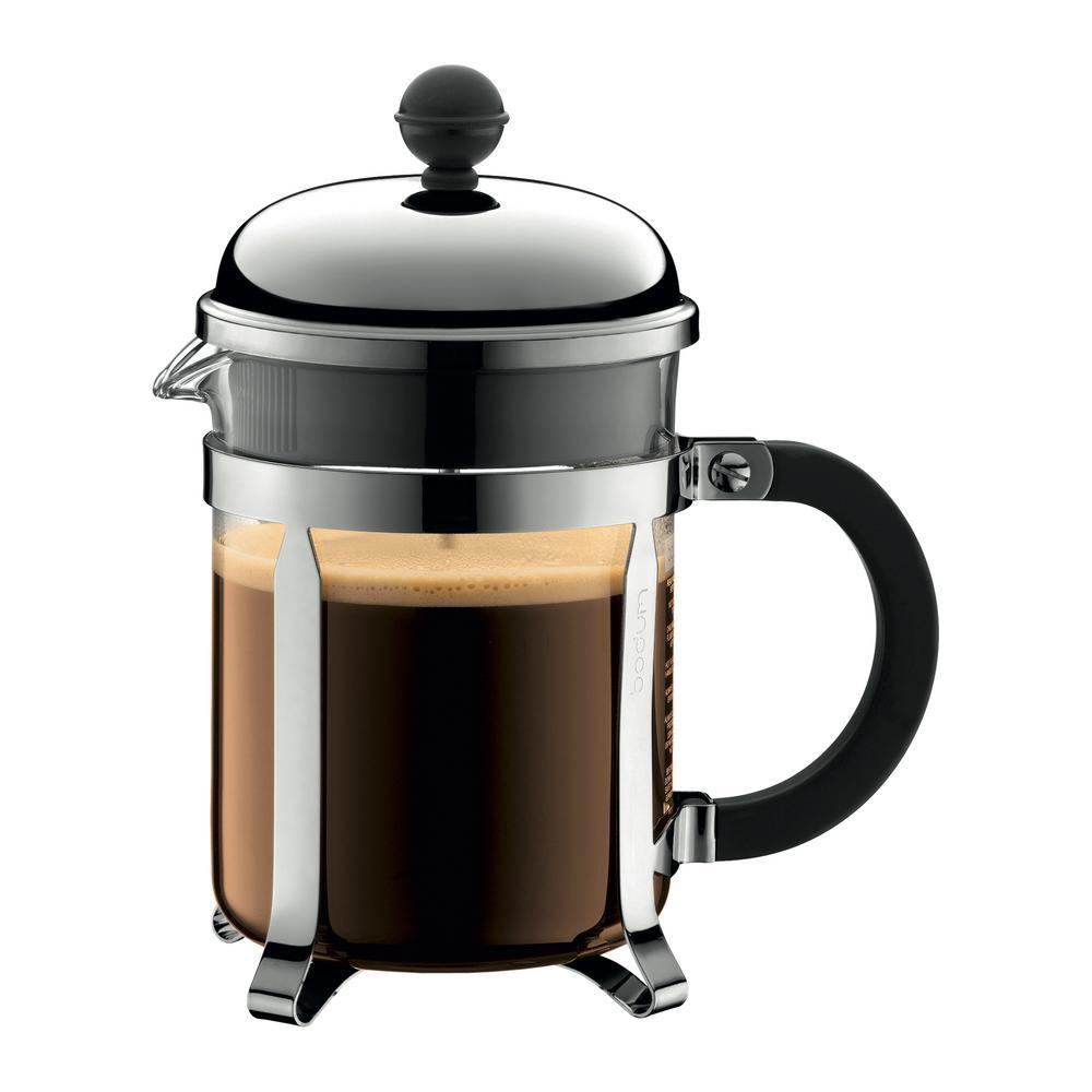 Bodum Chambord 4-Cup Chrome French Press Coffee Maker 1924-16US4