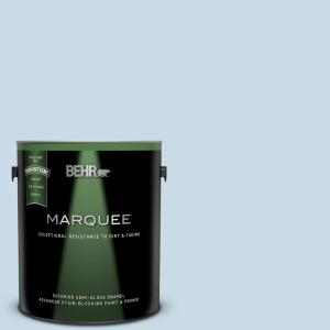 1 gal. #M510-1 Blue Me Away Semi-Gloss Enamel Exterior Paint and Primer in One