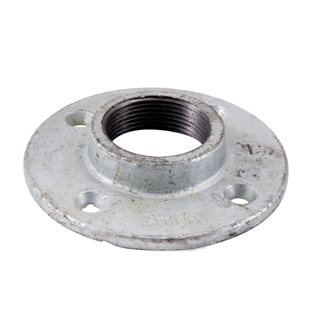 LDR Industries 1-1/2 in. Galvanized Iron Floor Flange