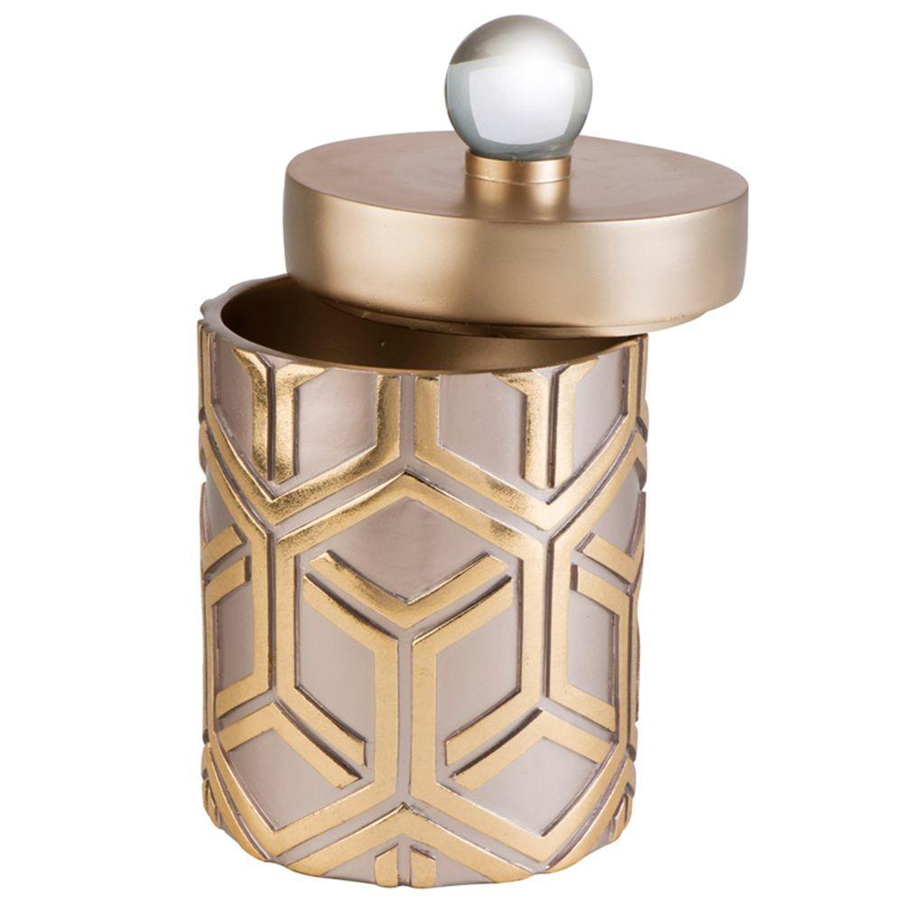 5 in. W x 10 in. H Bamboo Weave Jewelry Box in Rose Gold