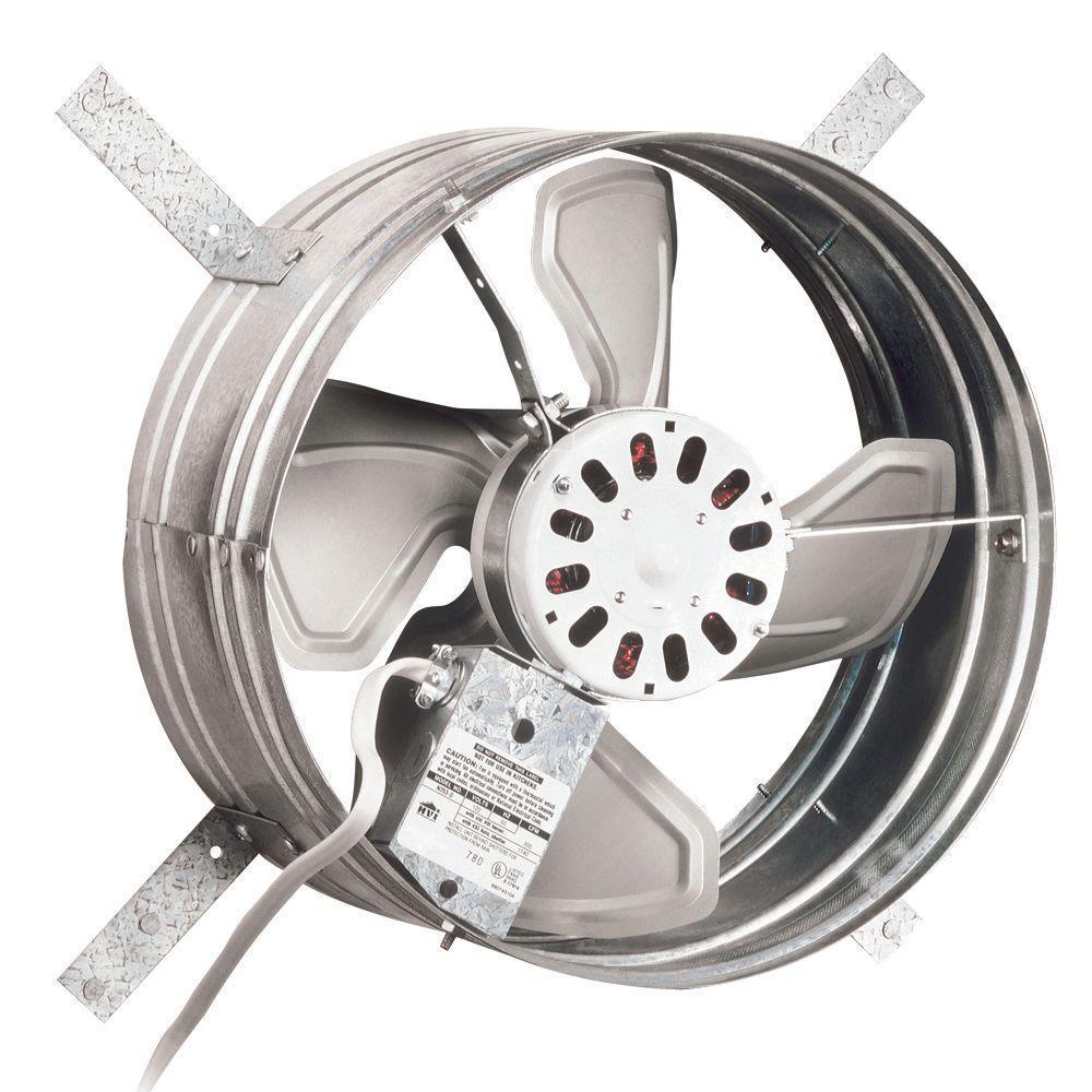 Electric Exhaust Fan Power Gable Mount Attic Ventilator