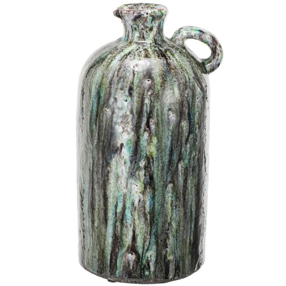 8 in. x 15.5 in. Terracotta Vase