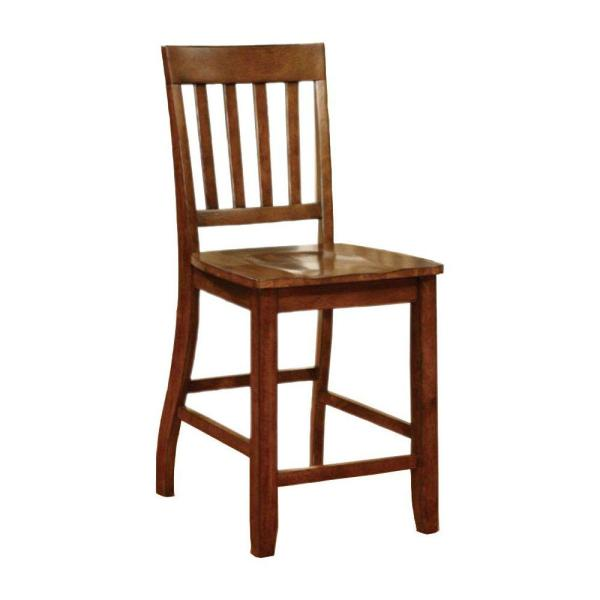 Foster II Transitional 42 in. H Brown Counter Height Chair (Set of 2)