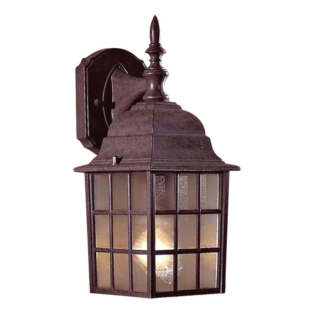 Bridgeport 1-Light Antique Bronze Outdoor Wall Mount Lantern