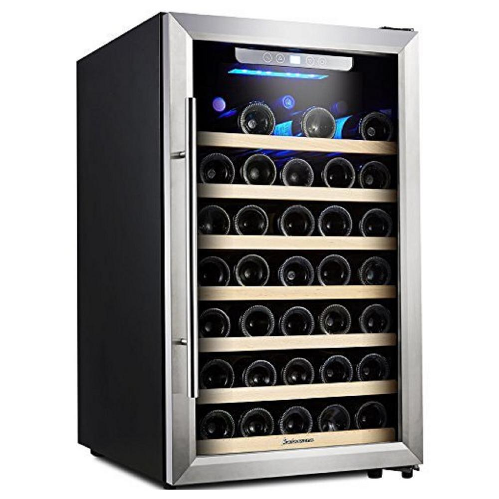 50 Bottle Compressor Wine Refrigerator Single Zone with Touch Control