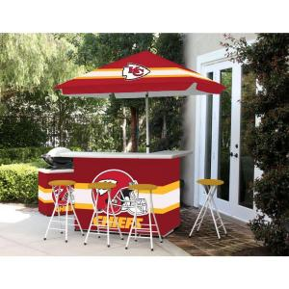 Best Of Times Kansas City Chiefs All Weather Patio Bar Set
