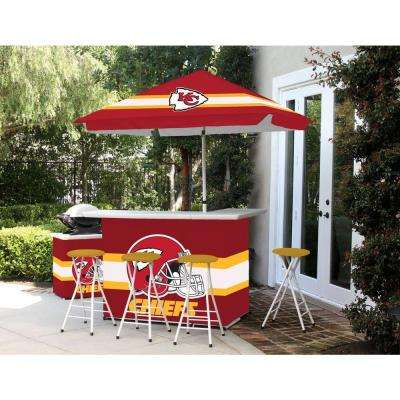 Kansas City Chiefs All-Weather Patio Bar Set with 6 ft. Umbrella