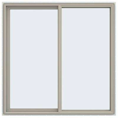 59.5 in. x 59.5 in. V-4500 Series Left-Hand Sliding Vinyl Window - Tan