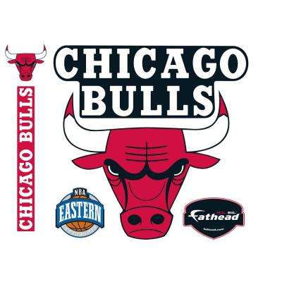 40 in. H x 40 in. W Chicago Bulls Logo Wall Mural