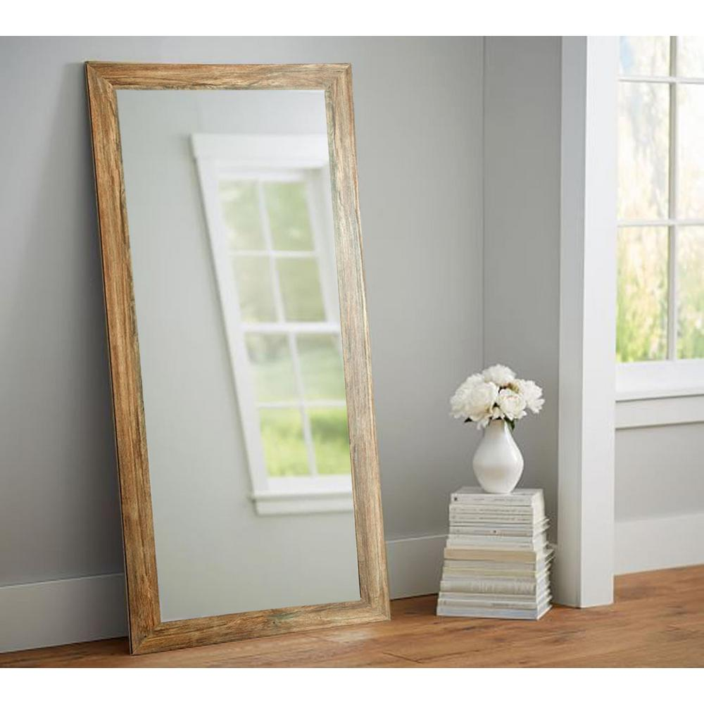 Brandtworks Blonde Barnwood Full Length Floor Wall Mirror Bm034ts