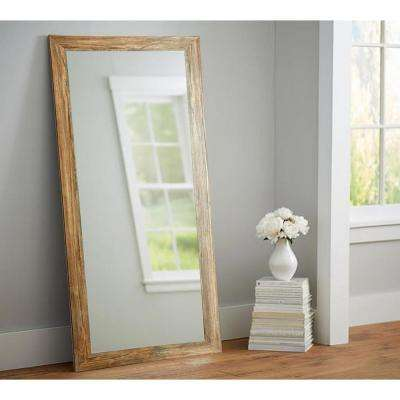 Blonde Barnwood Full Length Floor Wall Mirror