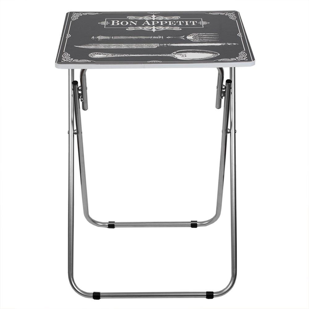 Home Basics Black Bon Apettit Multi-Purpose Folding Table TT41427