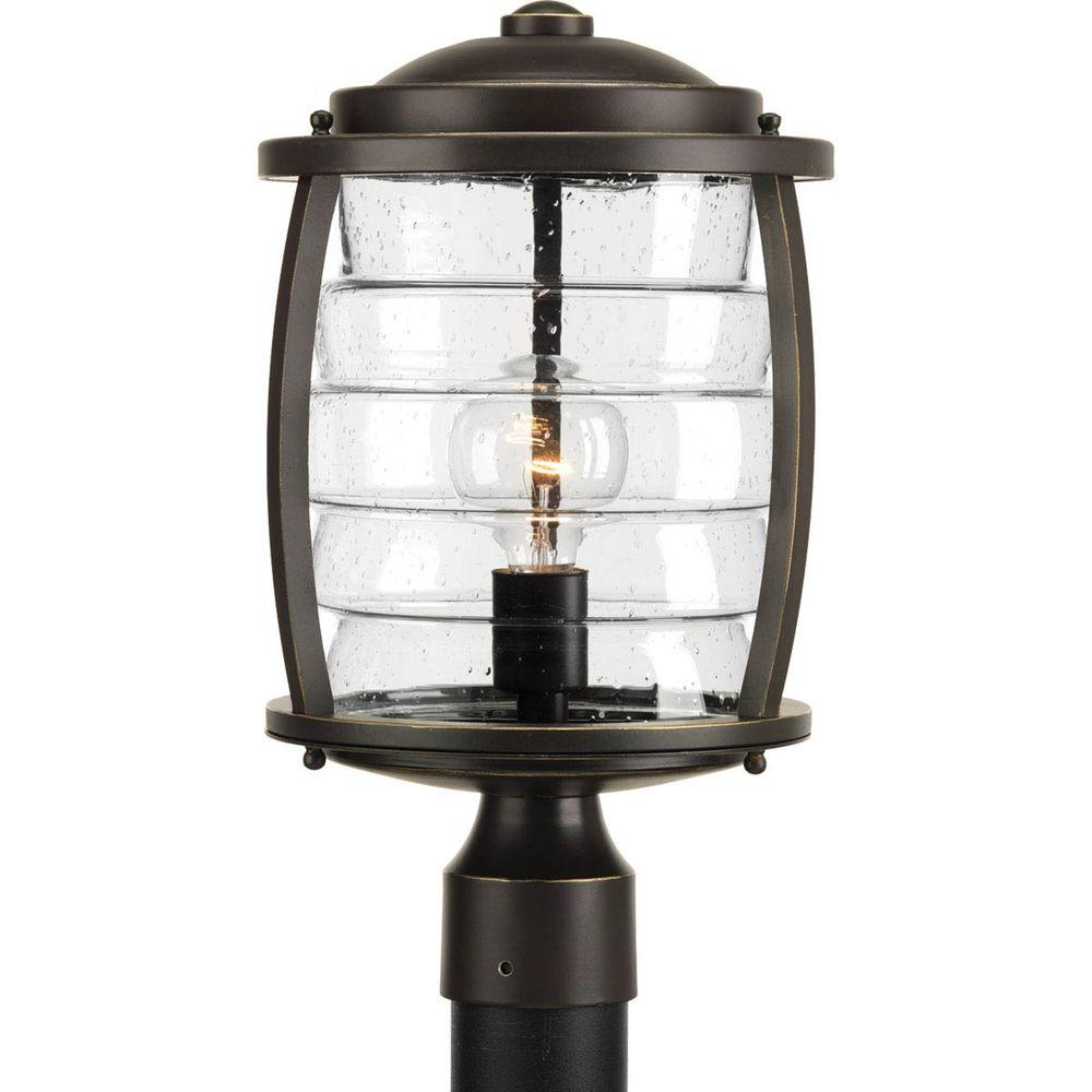 Signal bay collection 1 light oil rubbed bronze outdoor post lantern